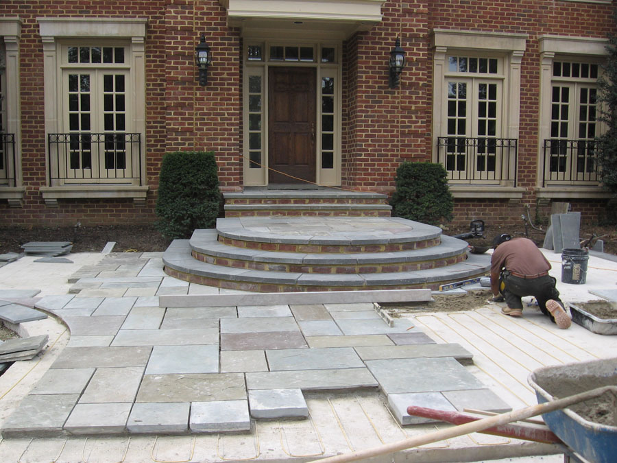 How To Install Stone Patio Steps Designs