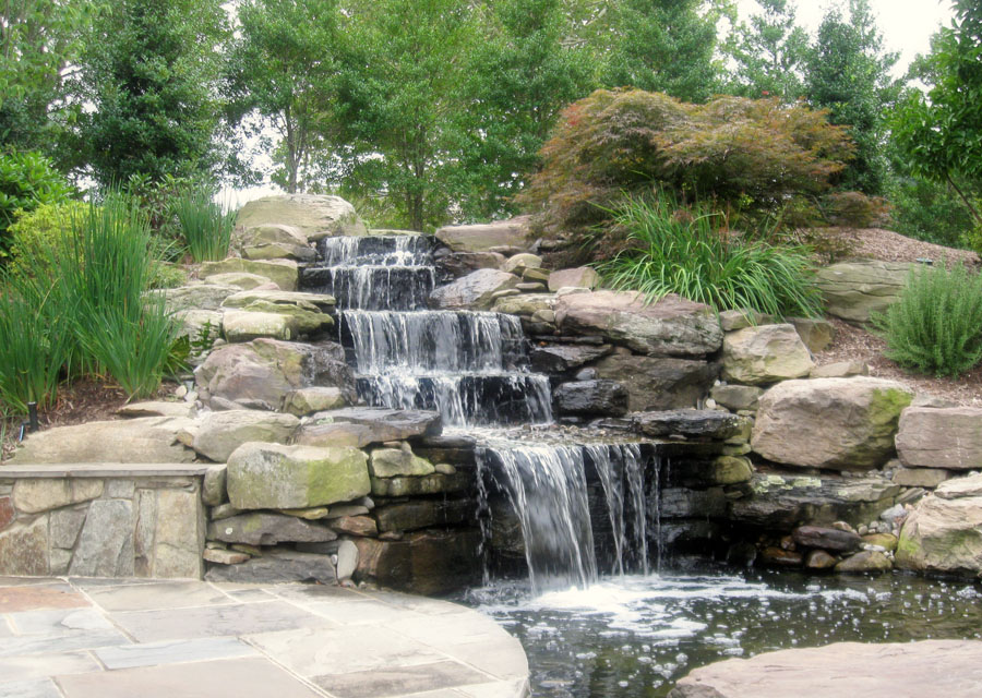 Water features sisson landscapes for Waterfall garden feature