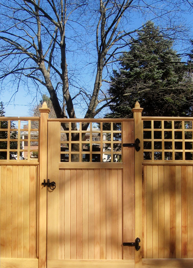 Fence Picture - Columns Flanking Gate - Landscaping Ideas