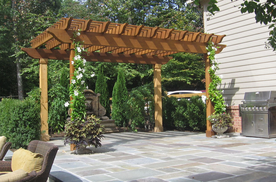 Flagstone Patio Retaining Wall Designs Masonry Sisson Landcapes - Flagstone patio patterns