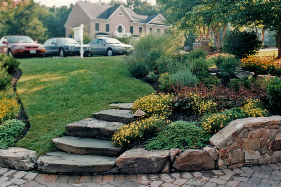 Natural Stone Stairs : Pathways steppers sisson landscapes