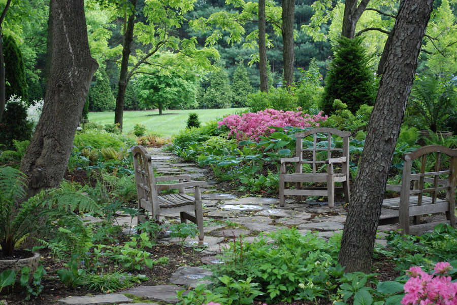 Landscape design portfolio sisson landscapes Beautiful and shady home garden design ideas