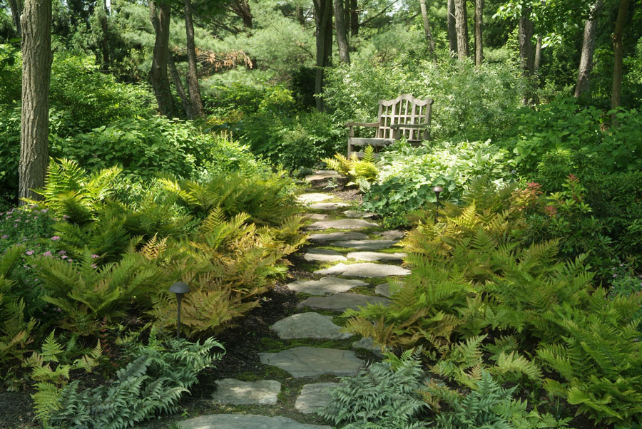 Shade garden ideas pictures photograph shade garden design - Garden pathway design ideas with some natural stones trails ...