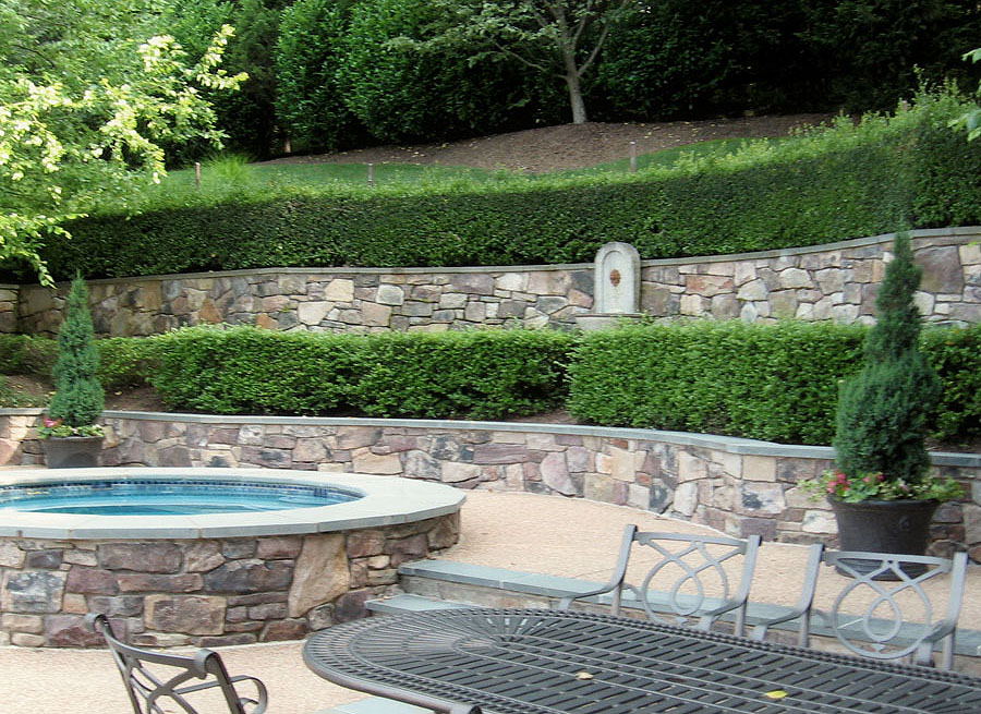 flagstone patio retaining wall designs masonry sisson landcapes