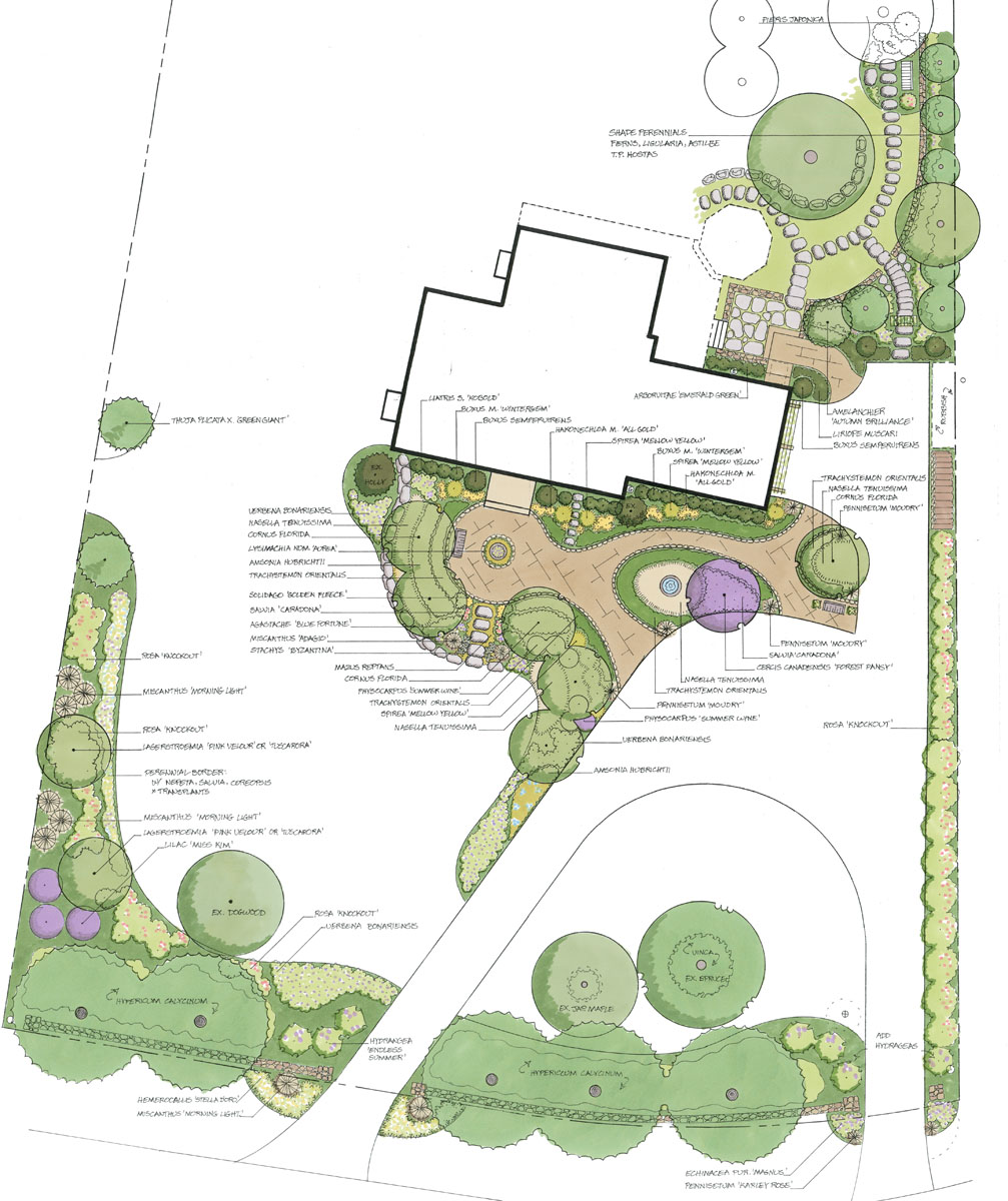 Pathways amp steppers sisson landscapes - Hinton Residence