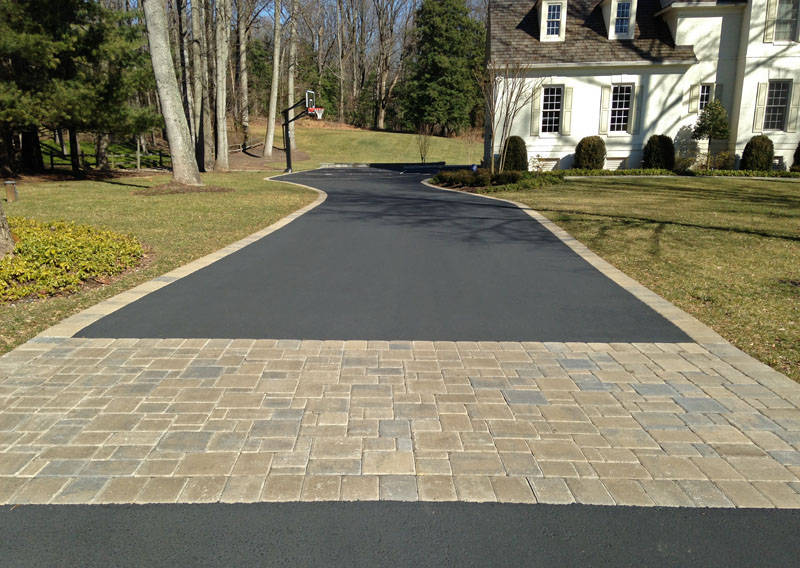 Asphalt Driveway With Paver Border Pictures 64