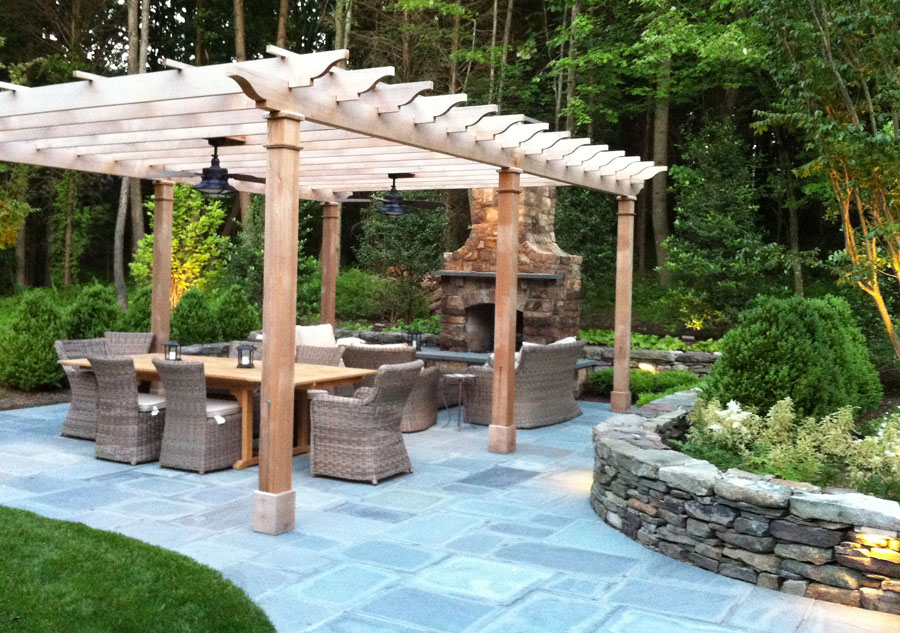 Portfolio of Custom Wood Garden Arbors & Pergolas - Rose Arbors