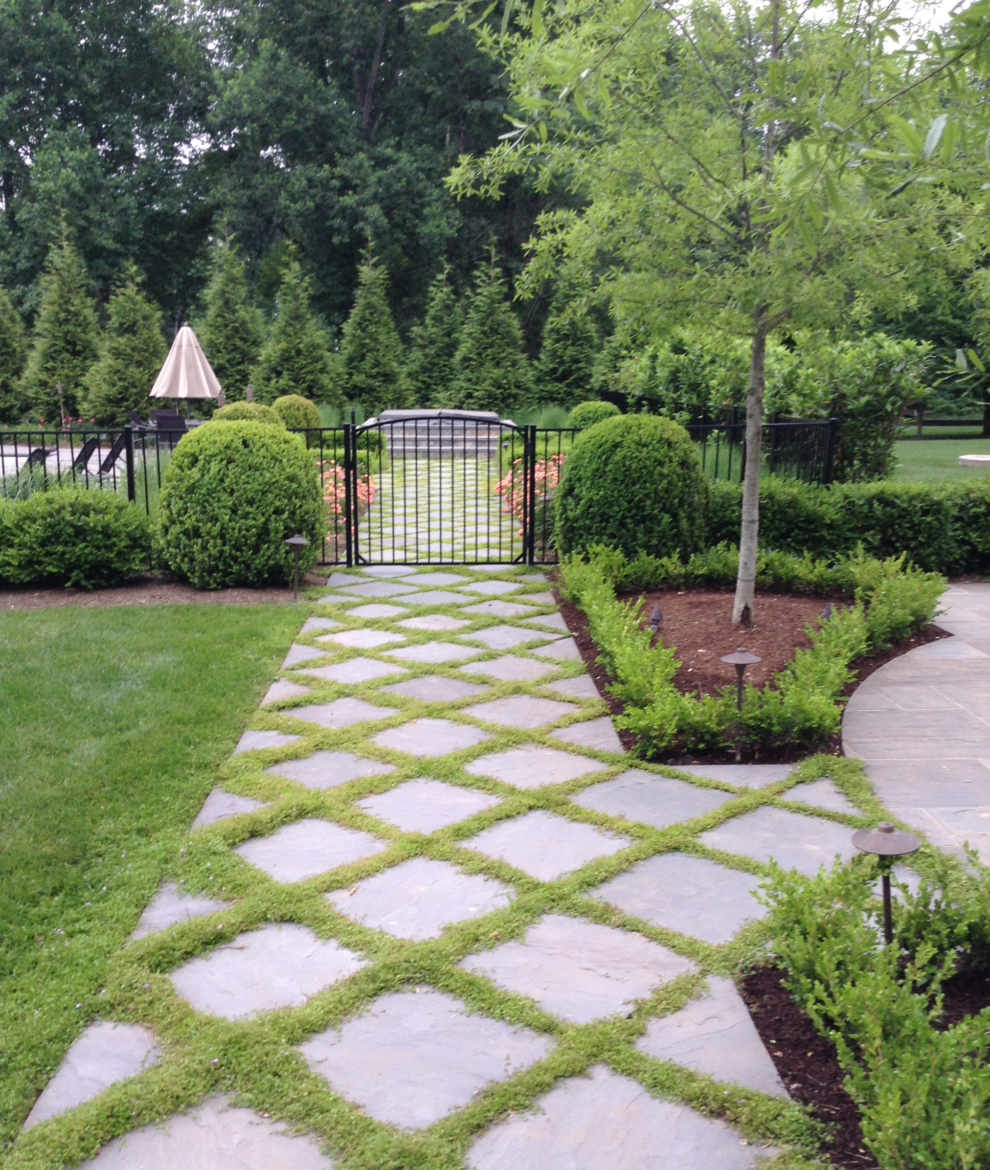 Pathways amp steppers sisson landscapes - Pool Walkway